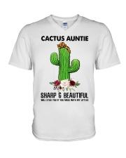 Cactus Auntie V-Neck T-Shirt thumbnail
