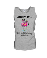 Life would be boring without crazy Flamingo shirt Unisex Tank tile