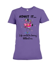 Life would be boring without crazy Flamingo shirt Premium Fit Ladies Tee thumbnail