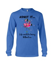 Life would be boring without crazy Flamingo shirt Long Sleeve Tee tile