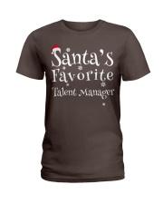 Santa's favorite Talent Manager Ladies T-Shirt thumbnail