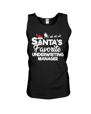 Santa's favorite Underwriting Manager Unisex Tank thumbnail
