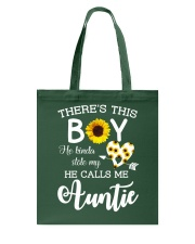 This boy kinda stole my heart and calls me Auntie Tote Bag thumbnail