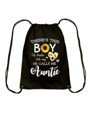 This boy kinda stole my heart and calls me Auntie Drawstring Bag thumbnail