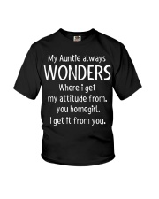Nephew and Niece Auntie attitude Youth T-Shirt front