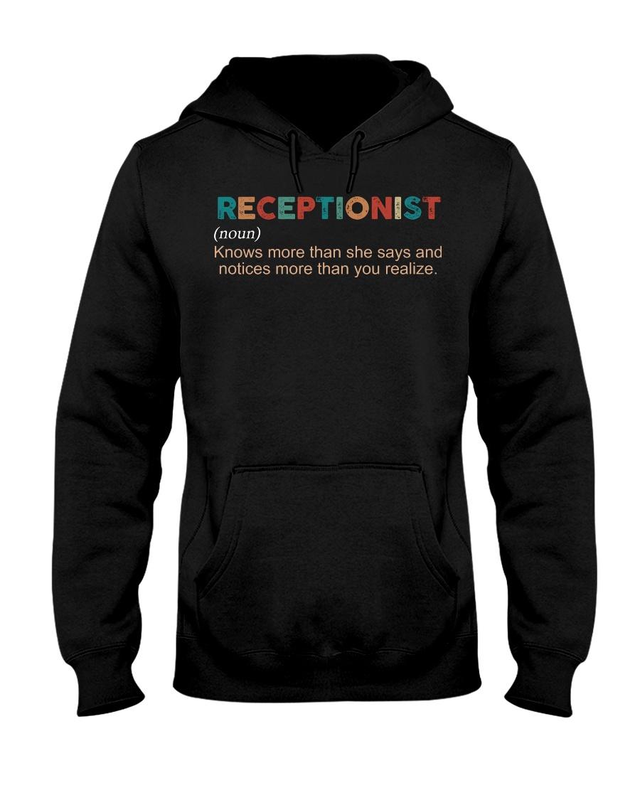 Vintage Receptionist Hooded Sweatshirt
