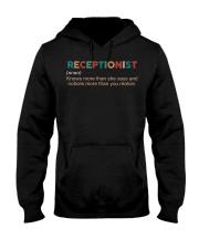 Vintage Receptionist Hooded Sweatshirt front