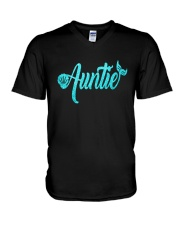 Mermaid Auntie V-Neck T-Shirt thumbnail