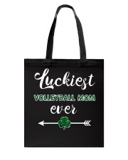 Luckiest Volleyball Mom Ever Tote Bag thumbnail