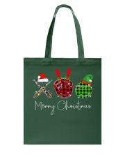 Merry Christmas Baseball Tote Bag thumbnail