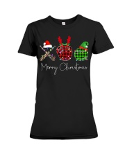 Merry Christmas Baseball Premium Fit Ladies Tee thumbnail