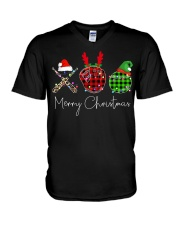Merry Christmas Baseball V-Neck T-Shirt thumbnail