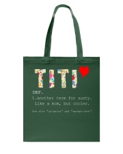 Titi aunt auntie aunty like mom but cooler Tote Bag thumbnail