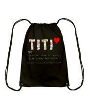Titi aunt auntie aunty like mom but cooler Drawstring Bag thumbnail