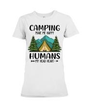 Camping make me happy Premium Fit Ladies Tee tile