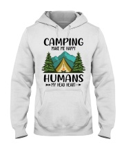Camping make me happy Hooded Sweatshirt tile