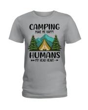 Camping make me happy Ladies T-Shirt front