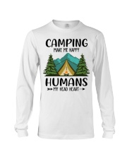 Camping make me happy Long Sleeve Tee tile
