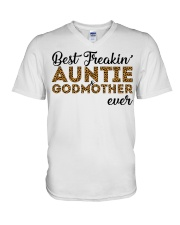Best Freakin' Auntie and Godmother Ever V-Neck T-Shirt thumbnail