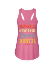 Thankful Grateful Blessed Auntie Thanksgiving Ladies Flowy Tank thumbnail