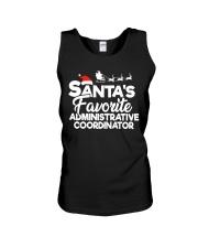 Santa's favorite Administrative Coordinator Unisex Tank thumbnail