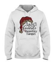 Santa's favorite Respiratory Therapist Hooded Sweatshirt front