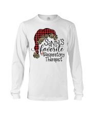 Santa's favorite Respiratory Therapist Long Sleeve Tee tile