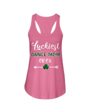 Luckiest Dance Mom Ever Ladies Flowy Tank thumbnail