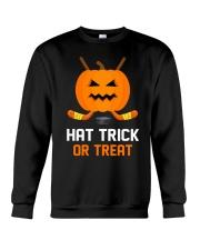 Hockey Hat Trick or Treat Crewneck Sweatshirt front