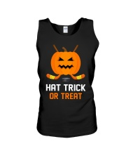 Hockey Hat Trick or Treat Unisex Tank thumbnail