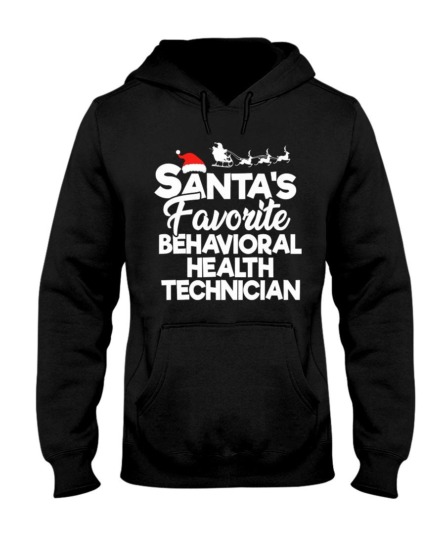 Santa's favorite Behavioral Health Technician Hooded Sweatshirt