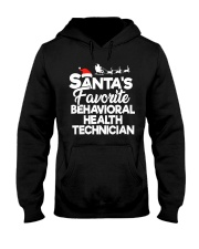 Santa's favorite Behavioral Health Technician Hooded Sweatshirt front