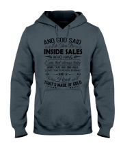 And God said let there be Inside Sales Hooded Sweatshirt thumbnail