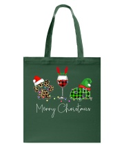 Merry Christmas Wine Dog and Camping Tote Bag thumbnail