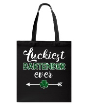 Luckiest Bartender Ever Tote Bag thumbnail