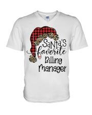 Santa's favorite Billing Manager V-Neck T-Shirt tile