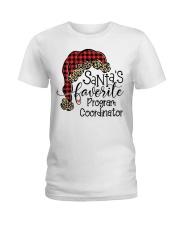 Santa's favorite Program Coordinator Ladies T-Shirt tile