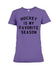 Hockey is my favorite season Premium Fit Ladies Tee thumbnail