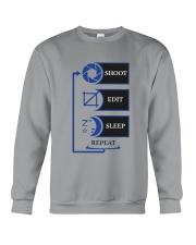Shoot Edit Sleep Repeat photoglife Crewneck Sweatshirt thumbnail