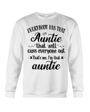 Auntie who cuss a lot Crewneck Sweatshirt thumbnail