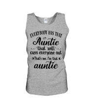 Auntie who cuss a lot Unisex Tank tile