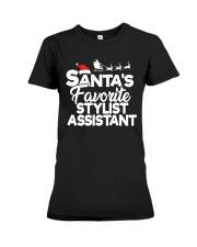 Santa's favorite Stylist Assistant Premium Fit Ladies Tee thumbnail