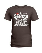 Santa's favorite Stylist Assistant Ladies T-Shirt thumbnail