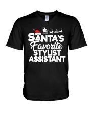 Santa's favorite Stylist Assistant V-Neck T-Shirt thumbnail