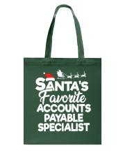Santa's favorite Accounts Payable Specialist Tote Bag thumbnail