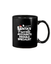 Santa's favorite Accounts Payable Specialist Mug thumbnail