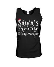 Santa's favorite Bakery Manager Unisex Tank thumbnail