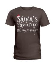 Santa's favorite Bakery Manager Ladies T-Shirt thumbnail