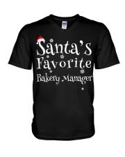 Santa's favorite Bakery Manager V-Neck T-Shirt thumbnail