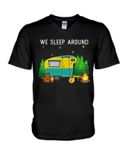 We sleep around V-Neck T-Shirt thumbnail